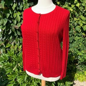 TALBOTS Cable-Knit Cardigan, 2X